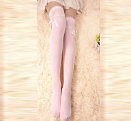 Socks/Stockings Sweet Lolita Lace-up Pink Lolita Accessories Stockings Bowknot For Women Cotton