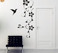 Романтика / Мода / Цветы Наклейки Простые наклейки,PVC M:42*100cm / L:55*130cm