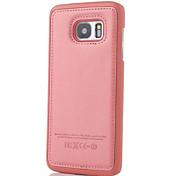 Для Samsung Galaxy S7 Edge Рельефный Кейс для Задняя крышка Кейс для Один цвет Искусственная кожа SamsungS7 edge / S7 / S6 edge plus / S6