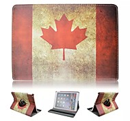 Special Design Novelty The Canadian Flag PU Leather Folio Case Holster 360⁰ Case for iPad Air 2