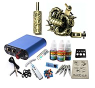 Tattoo Kit JH571 1 Machine With Power Supply Grips 3x10ML Ink