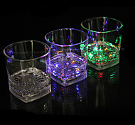 LED Light Emitting Glass Water Induction Colorful Quartet Cup Color Cup