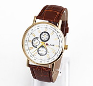 Fashionable Man Six Needle Dial Ms Quartz Watch Strap Watch Three Eye Cool Watches Unique Watches