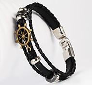 ancre forme pu bracelet pour hommes