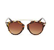 Gafas de Sol mujeres's Moda 100% UV400 Redondo Concha de Tortuga Gafas de Sol Completo llanta