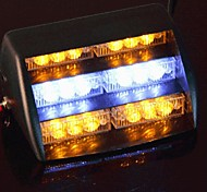 Car Windshield Yellow White 18 LED Strobe Police Emergency Flash Warning Light