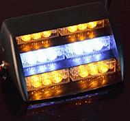 Car Windshield Yellow White 18 LED Strobe Police Emergency Flash Warning Light