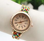 Women's Fashionable Watch PU Band Multi-Colored