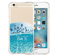 vivê-la amá-lo parte traseira do silicone estojo transparente para iphone 6 / 6s (cores sortidas)