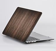 """grano de madera de diseño mate cubierta de la caja de cuerpo completo duro para MacBook Air 11 """"pro 13"""" / 15 """""""
