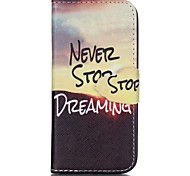 Stop Painted PU Phone Case for iphone SE