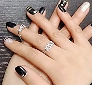 Lady's Fashion KISS ME Word Alloy  Rings