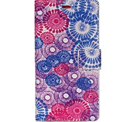 For Huawei Case / P8 Lite with Stand Case Full Body Case Flower Hard PU Leather Huawei Huawei P8 Lite