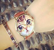 vendita caldo orologi! orologi da donna orologi simpatico gatto, gatto orologi, Geneva Watch orologi al quarzo in pelle