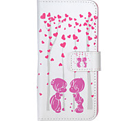 For iPhone 5 Case with Stand / Flip Case Full Body Case Heart Hard PU Leather iPhone SE/5s/5