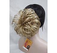 """blond doré dôme wiglet cordon queue de cheval 6 """"morceaux de cheveux de couverture bun e-kelli 24b"""