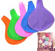 "36 ""balão de látex 90 centímetros de laranja 5pcs multicoloridos azuis"