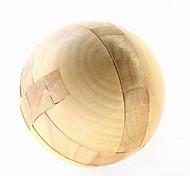 Fashion Wood Round Puzzle Unlock Loop Decompression Toys