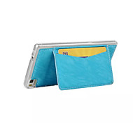 Back Cover Card Holder / with Stand Solid Color PU Leather Hard Case Cover For Huawei Huawei P8