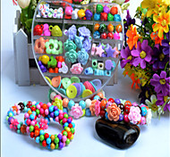 Heart And Colorful Diy Handmade Beaded Suit Children Educational Toys Necklace Gift