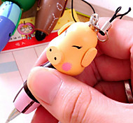 5PCS Wooden Cartoon Animals Carry  Pen Creative Stationery Characteristics Pen (Style random)