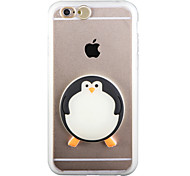 Glow in the Dark Big penguin PC Back Case with Strap and Stand for iphone6plus/6splus