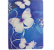 Large Butterfly Pattern Combo Bracket TPU and PU Leather Material Case for iPad Mini 3/2/1