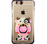 Glow in the Dark Hippopotamus Pattern with Hand Ring and Strap PC Back Case for iphone6/6s