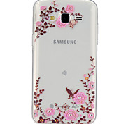 Para Funda Samsung Galaxy Transparente / Diseños Funda Cubierta Trasera Funda Flor TPU Samsung J5