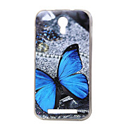 Blue butterfly New Soft TPU Back Case Cover For DOOGEE Valencia 2 Y100 Mobile phone bags Cases