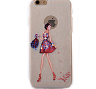 Bag Red Skirt Model Coloured Drawing Slim TPU Material Phone Case for iPhone 6/6S