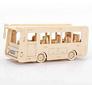 The Bus Car Wood 3D Puzzles Diy Toys