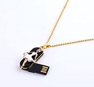 16GB Necklace USB 2.0 Ballerina Ballet Dancer Jewelry Rotatable Flash Memory Stick Drive U Disk ZP-07