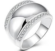 Ringe Alltag Schmuck versilbert Ring 1 Stück,8 9 10 Silber