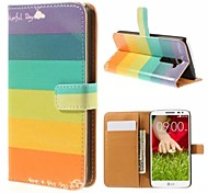Good Quality PU Leather Flip Case Mobile Phone for LG G2
