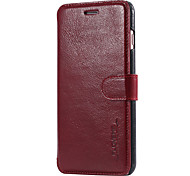 For iPhone 6 Case / iPhone 6 Plus Case Pattern Case Full Body Case Solid Color Hard Genuine Leather iPhone 6s Plus/6 Plus / iPhone 6s/6