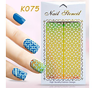 New Nail Art Hollow Stickers Flower Bow-knot Geometric Image  Design  Nail Art Beauty K071-080
