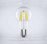 1 pcs  E26/E27  6W 6COB 600 lm Warm White A60(A19) edison Vintage LED Filament Bulbs AC 85-265 V