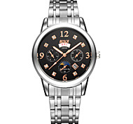 Men's Fashion Watch Three 6-Pin Stainless Steel With Dual Display Quartz Watch Waterproof Korea Sunday (Assorted Colors) Cool Watch Unique Watch