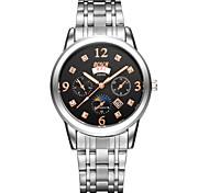 Men's Fashion Watch Three 6-Pin Stainless Steel With Dual Display Quartz Watch Waterproof Korea Sunday  Wrist Watch Cool Watch Unique Watch