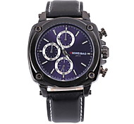 Men's Business Fashion Leather Band Quartz Watch