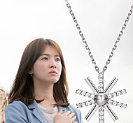 The Descendants of the Sun Flower Pendant Necklace Silver Jewelry