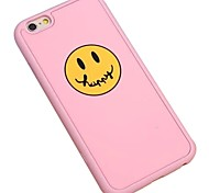 Happy Cartoon Face Silica Gel Wrapping Back Cover for iPhone 5/5S(Assorted Colors)