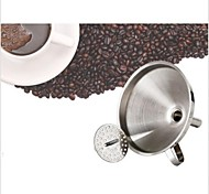 Stainless Steel Wine Oil Coffee Filter Funnel+Filter Mesh Strainer Kitchen Tool