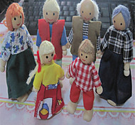 Lovely Doll House A Family Of Six Wooden Doll Doll And Movable Joint Scene Changing Shape