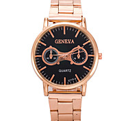 Men's Fashion Watch Two High-Quality Rose Gold Quartz Watch Wrist Watch Cool Watch Unique Watch