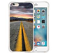 levando para o céu parte traseira do silicone estojo transparente para iphone 6 / 6s (cores sortidas)