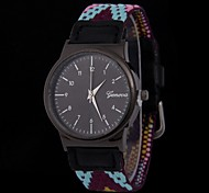 Women's Fashionable Watch Nylon Braid Band Multi-Colored Cool Watches Unique Watches