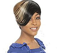жен. Парики из искусственных волос Без шапочки-основы Короткий Прямые Смешанные цвета Парики для косплей Черный парик Парик для Хэллоуина