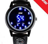 Unisex Reloj de Vestir Digital LED PU Banda Reloj de Pulsera Negro